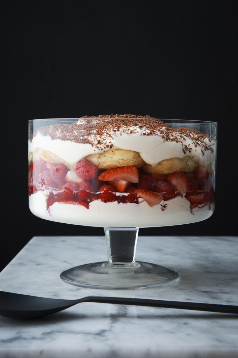 Berry, sauternes and mascarpone trifle