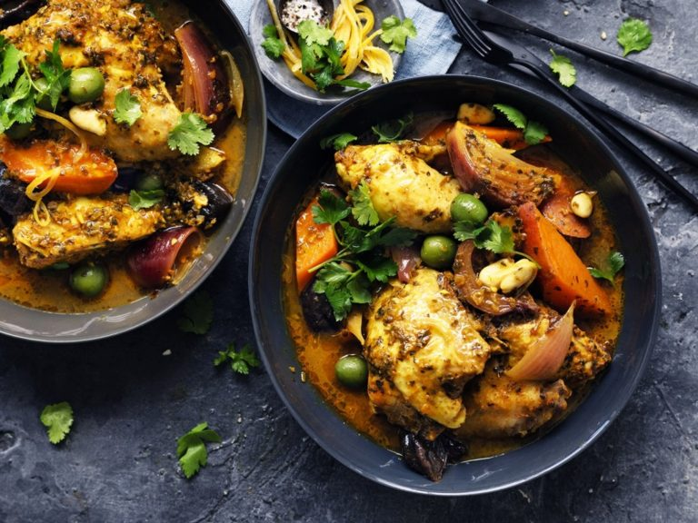Chicken & green olive tagine