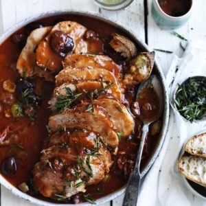 Neil Perry's Good Weekend recipe: Braised leg of veal in tomato & olives.
