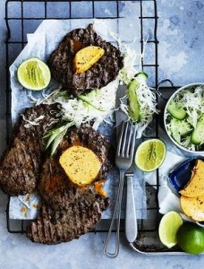 Minute steak with chipotle butter & lime