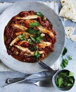 Neil Perry's Good Weekend recipe: Fish fillets with Veracruz-style sauce.