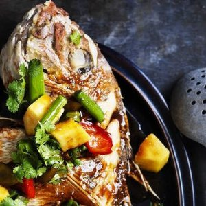 Neil Perry's Good Weekend recipe: Crispy fried snapper with sweet & sour sauce.