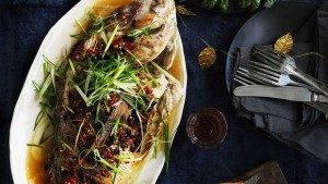 Neil Perry's Good Weekend recipe: Barbecued snapper with black beans & salted chillies.