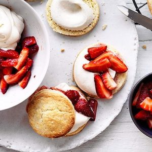 Neil Perry's Good Weekend recipe: Strawberry & cream shortcakes.