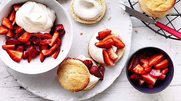 Strawberry & cream shortcakes