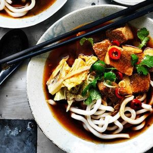 Neil Perry's Good Weekend recipe: Spicy braised beef soup with hot bean paste.