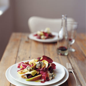 Neil Perry's Balance and Harmony recipe: Salad of Roquefort, walnuts, radicchio and witlof.
