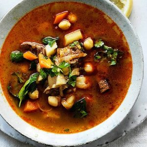 Neil Perry's Good Weekend recipe: Spicy lamb & vegetable soup with chickpeas.