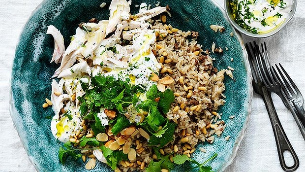 Fragrant poached chicken & spiced rice