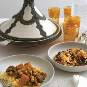 Neil Perry's Easy Weekend recipe: Tagine of lamb with couscous & orange salad.