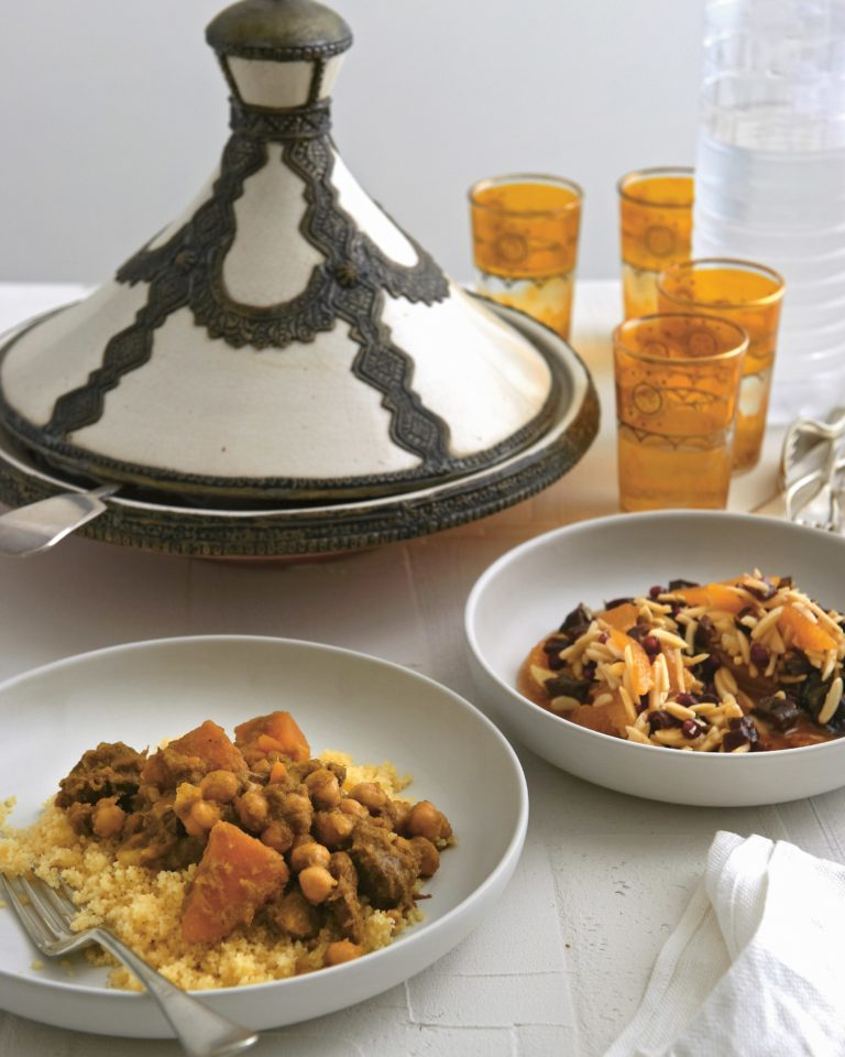 Tagine of lamb with couscous & orange salad